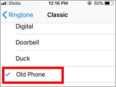 iPhone Home Contacts Ring Tone Customized