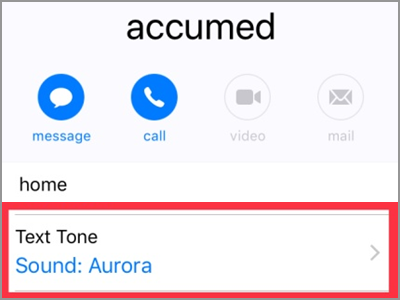 iPhone Home Contacts Text Alert Customized