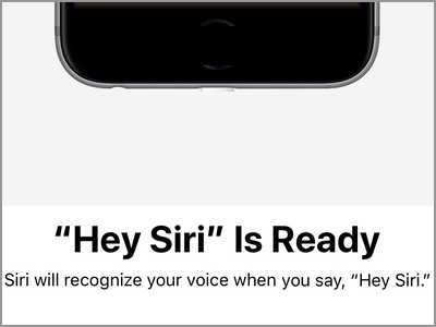 iPhone Settings Siri & Search Hey Siri is Ready