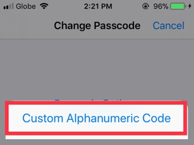 iPhone Settings Touch ID & Passcode Change Passcode Options Custom Code