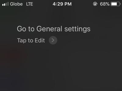iPhone Siri Go to General Settings
