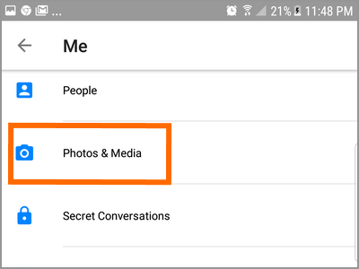 Android Messenger Profile Photos and Media