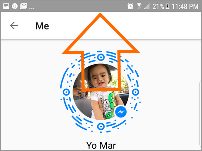 Android Messenger Profile Swipe Down