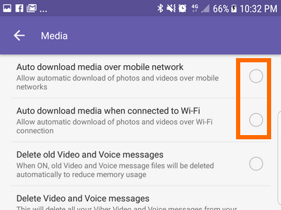 Android Viber Menu Settings Media Auto Download Disabled