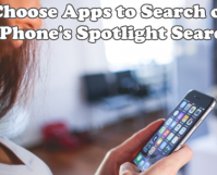 Choose Apps to Search on iPhone Spotlight Search