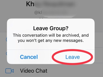how to leave a group on facebook messenger without notification