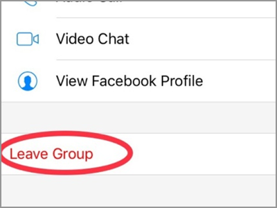 Facebook Messenger Group Chat Leave Group