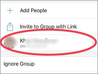Facebook Messenger Group Chat Member Select