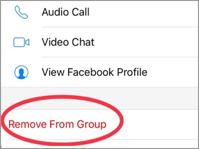 How to remove group chat in facebook messenger