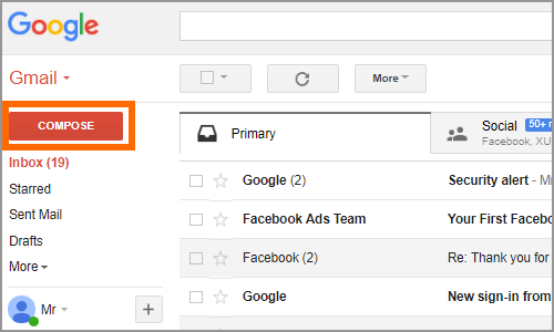 Gmail Compose button