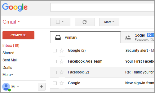 Gmail Main Interface