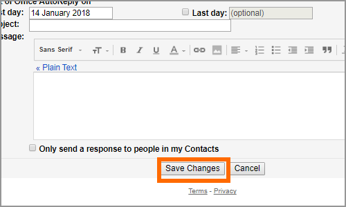 Gmail Settings Menu General Save Changes