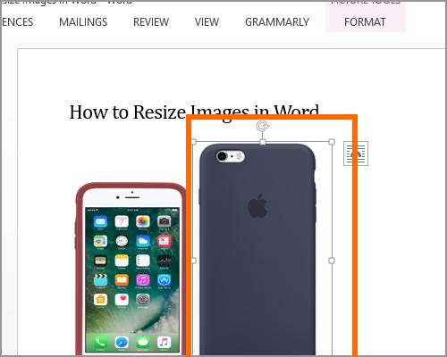 Resize Image Select new image