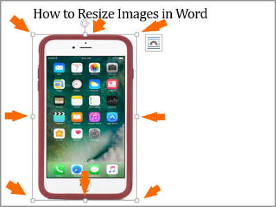 Resize Word Image Selected