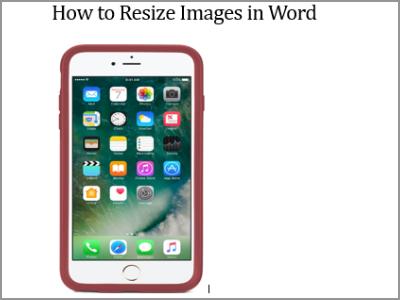 Resize Word Image to Resize