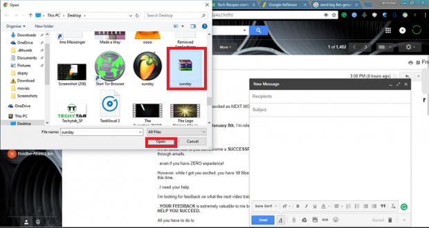 send big files over gmail