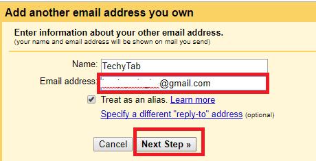 How to change gmail alias name