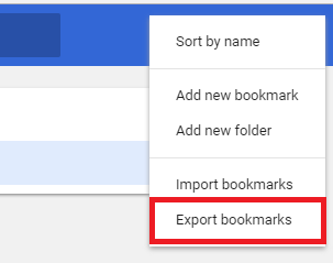 export google chrome bookmarks