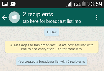 Create A Broadcast List On WhatsApp