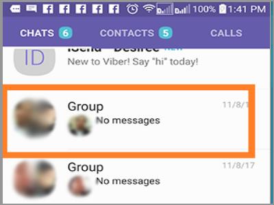 Select Viber Group
