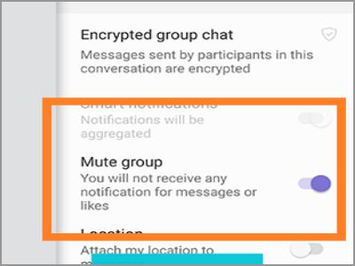 Viber Mute group