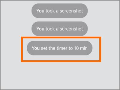 Viber Secret Chats Timer Set