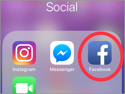 iPhone Home Facebook