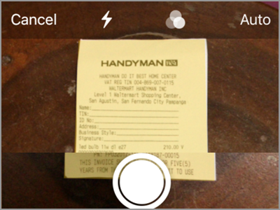 iPhone Home Notes Scan Documents Choose Document