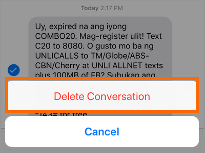 iPhone Messages Delete Conversation