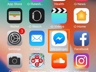 iPhone Messenger App icon