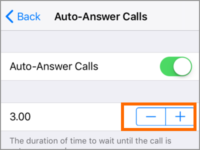 iPhone Settings Call Audio Routing Auto Answer Calls Switch Time