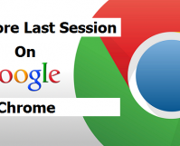 restore last session on google chrome