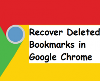 recover deleted bookmarks in Google chrome