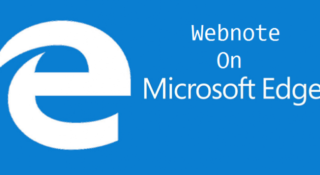 make web note on microsoft edge