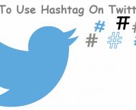 use hashtag on twitter