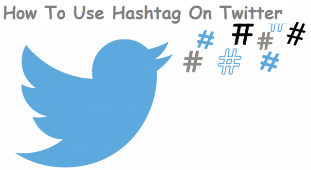 use hashtag on twitter