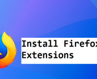 install firefox extensions