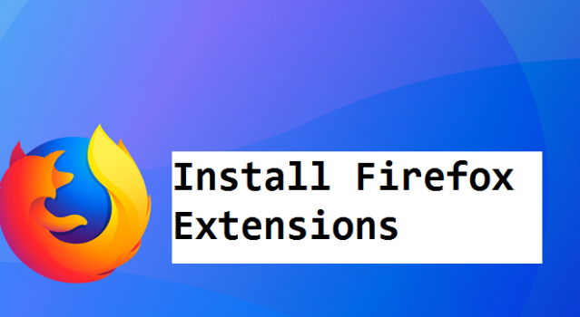 install firefox extensions
