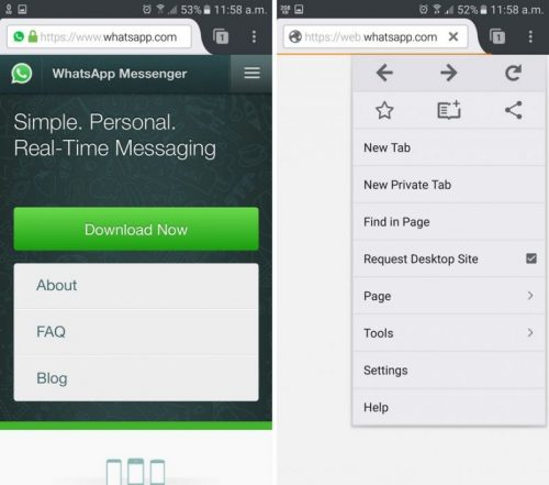 Install WhatsApp web on iPad