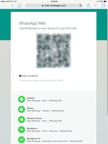 Install WhatsApp web on iPad
