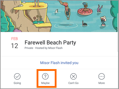 Android Facebook Menu Events Choose Event Maybe