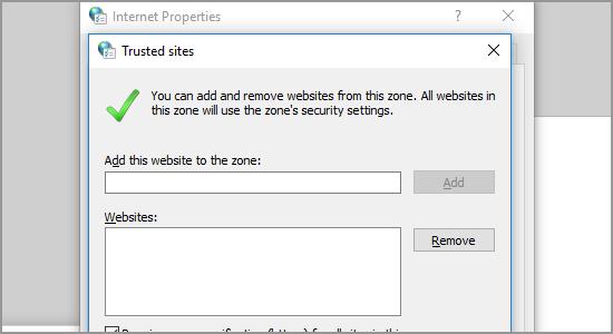 Chrome Remove Trusted Site Choose Site click Remove DONE
