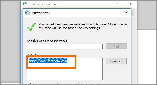 Chrome Remove Trusted Site Choose Site