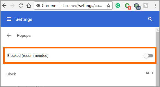 how to delete pop ups on google chrome