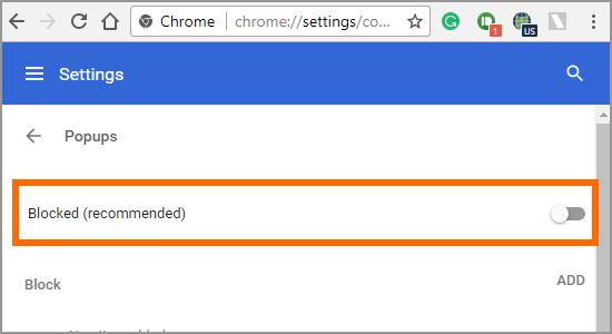 Google Chrome Menu Settings Advanced Content Popups Blocked