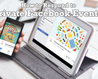 How to Respond to Private Facebook Events