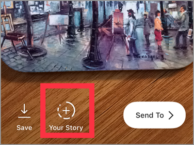 Instagram Camera Button Your Story