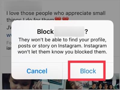Instagram Profile Followers Menu Block Button Confirm