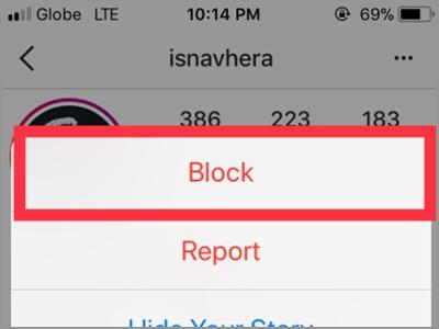 Instagram Profile Followers Menu Block Button