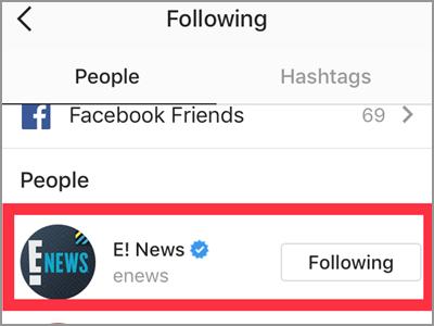 Instagram Profile Following Choose Following
